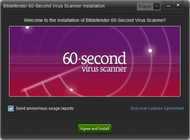 Bitdefender 60-Second Virus Scanner screenshot