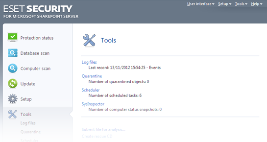 ESET NOD32 Security for Microsoft SharePoint Server