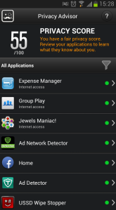 BitDefender Mobile Security Privacy Advisor