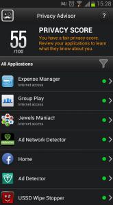 BitDefender Mobile Security Privacy Advisor