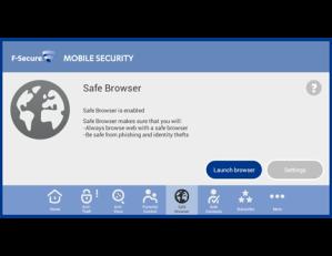 F-Secure Mobile Security Safe Brauser Screenshot