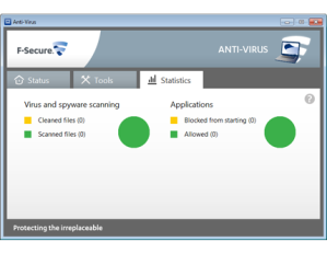 F-Secure AV screenshot
