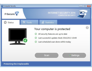 F-Secure Internet Security Computer Safety Screenshot