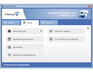 F-Secure Internet Security Tools Screenshot