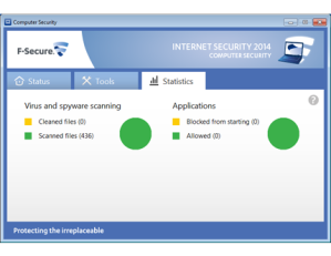 F-Secure Internet Security Statistics Screenshot