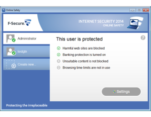 F-Secure Internet Security Administrator Screenshot