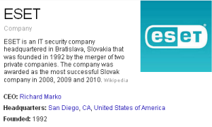 ESET is an IT security company
