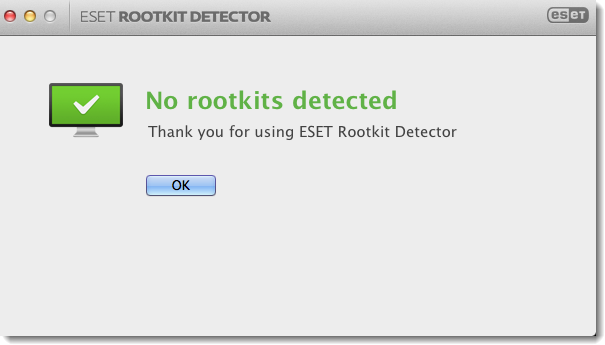 Rootkit Detector  does not detect any rootkits