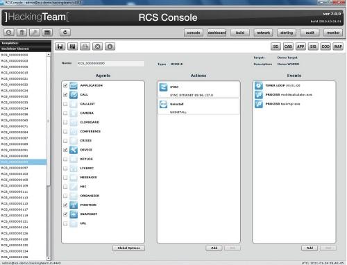 Galileo RCS Console