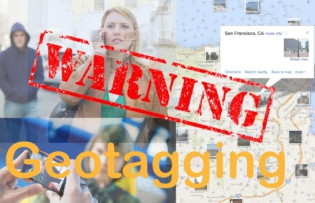 Warning - geotagging