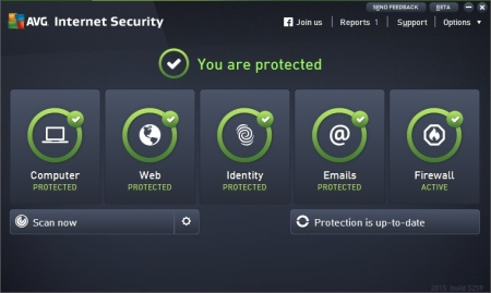 AVG Internet Security 2015 screenshot