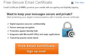 Free Secure Email Certificate