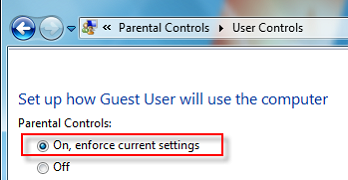 Enforce current settings