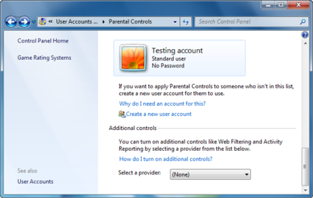 Windows 7 Parental Controls