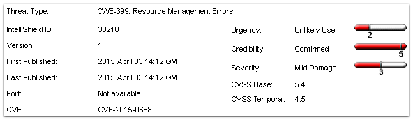CVE-2015-0688 vulnerability