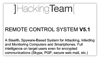 Hacking Team Remote Control System
