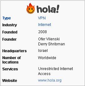 Free VPN Hola