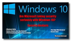 Windows 10 security
